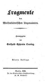 Fragmente des Wolfenbüttelschen Ungenannten