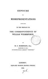 Exposure of misrepresentations contained in the preface to The correspondence of William Wilberforce