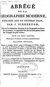 Abrégé de la Géographie moderne: seconde édition, Volume1