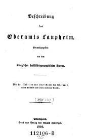 Beschreibung des Oberamts Laupheim: Band 35