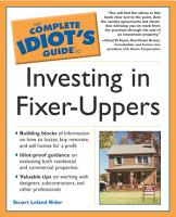 The Complete Idiot s Guide to Investing In Fixer Uppers PDF