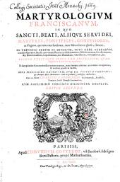 Martyrologium Franciscanum