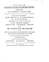 Epistolam Samaritanam Sichemitarum tertiam, ad Iobum Ludolfum ...