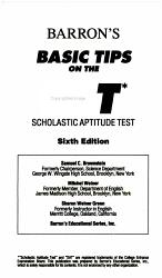 Barron s Basic Tips on the SAT  Scholastic Aptitude Test PDF