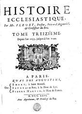 HISTOIRE ECCLESIASTIQUE.: Depuis l'an 1053. jusques à l'an 1099. TOME TREIZIÉME, Volume13
