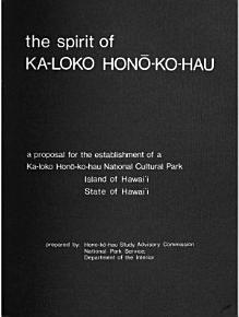 Kaloko Honokohau National Cultural Park  Proposed PDF
