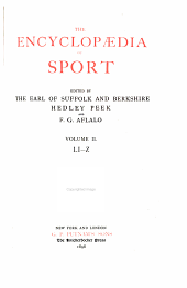 The Encyclopædia of Sport: Li-Z