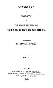 Memoirs of the life of the right honorouble Richard Brimsley Sheridan: Volume 1