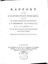 Rapport sur l'instruction publique, fait au nom du comité de constitution de l'Assemblée nationale