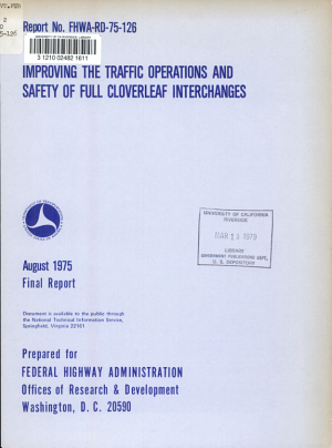 Improving the Traffic Operations and Safety of Full Cloverleaf Interchanges PDF