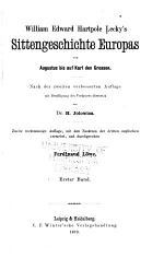 William Edward Hartpole Lecky's Sittengeschichte Europas von Augustus bis auf Karl den grossen