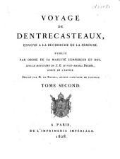 Voyage de Dentrecasteaux, envoye ́à la recherche de La Pérouse: Volume2