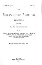 The Southwestern Reporter: Volume 9