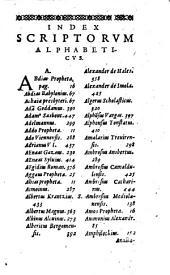 De scriptoribus ecclesiasticis liber unus: cum adiunctis indicibus undecim et brevi Chronologia ab orbe condito usque ad annum 1612
