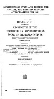 Departments of State  and Justice  the Judiciary  and Related Agencies Appropriations for 1962 PDF