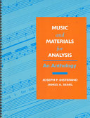 Music and Materials for Analysis
