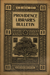 Coöperative Bulletin of the Providence Libraries ...: Issued Monthly, Volume 1, Issue 3