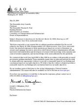 Hearing on ATC Modernization, March 18, 2009: Near-Term Achievable Goals: Responses to Questions for the Record