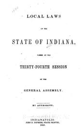 Local Laws of the State of Indiana