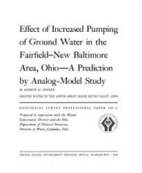 Effect of Increased Pumping of Ground Water in the Fairfield New Baltimore Area  Ohio PDF