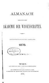 Almanach der kaiserlichen Akademie der Wissenschaften für das Jahr ...: Bände 28-31