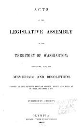 Laws of Washington: Volume 7