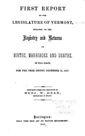 Report ...: Relating to the Registry and Returns of Births, Marriages, Deaths and Divorces in the States, Volumes 1-4