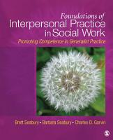 Foundations of Interpersonal Practice in Social Work PDF