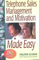 Telephone Sales Management and Motivation Made Easy PDF
