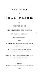 Memorials of Shakspeare: Or, Sketches of His Character and Genius