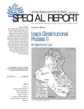 Iraq's Constitutional Process II: An Opportunity Lost
