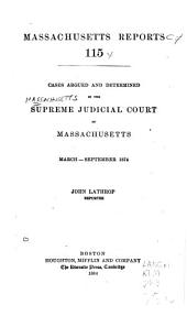 Massachusetts Reports: Volumes 115-116