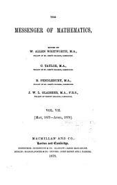 The Messenger of Mathematics: Volume 7
