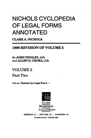 Nichols Cyclopedia of Legal Forms Annotated PDF