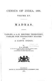 Census of India, 1891: Volume 15