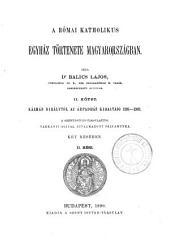 A Római katholikus egyház tőrténete Magyarországban: 3. kötet