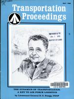 Transportation Proceedings PDF