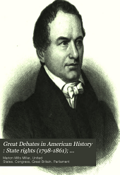 Great Debates in American History: State rights (1798-1861) and slavery (1858-1861)