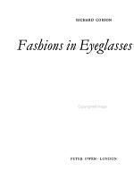 Fashions in Eyeglasses PDF