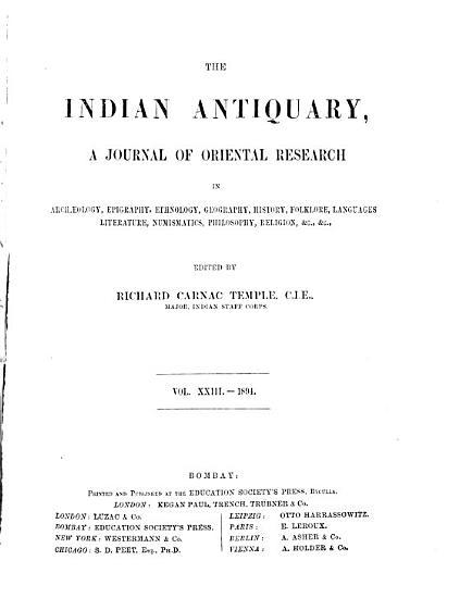 Indian Antiquary PDF