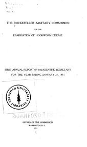 First annual report of the scientific secretary, for the year ending January 25, 1911