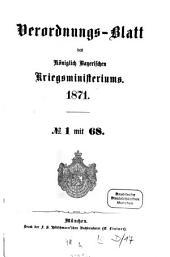 Verordnungs-Blatt: 1871