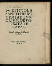 Epistola Sancti Hieronymi ad Evagrium de potestate Papae