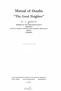 Mutual of Omaha   the Good Neighbor   Book