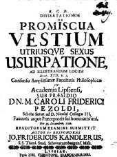 ... Dissertationem de promiscua vestium utriusque sexus usurpatione: ad illustrandum locum Deut. XXII. | ..., Volume 5