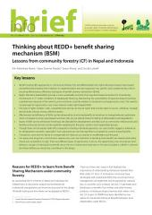 Thinking about REDD+ benefit sharing mechanism (BSM): Lessons from community forestry (CF) in Nepal and Indonesia
