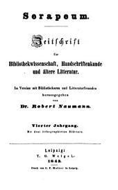 Serapeum: Zeitschrift für Bibliothekwissenschaft, Handschriftenkunde und ältere Literatur, Band 4