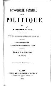 Dictionnaire général de la politique: Volume1