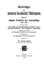Beiträge zur neueren Geschichte Thüringens: Band 1,Teil 3