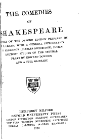 The Comedies of Shakespeare: The Text of the Oxford Ed